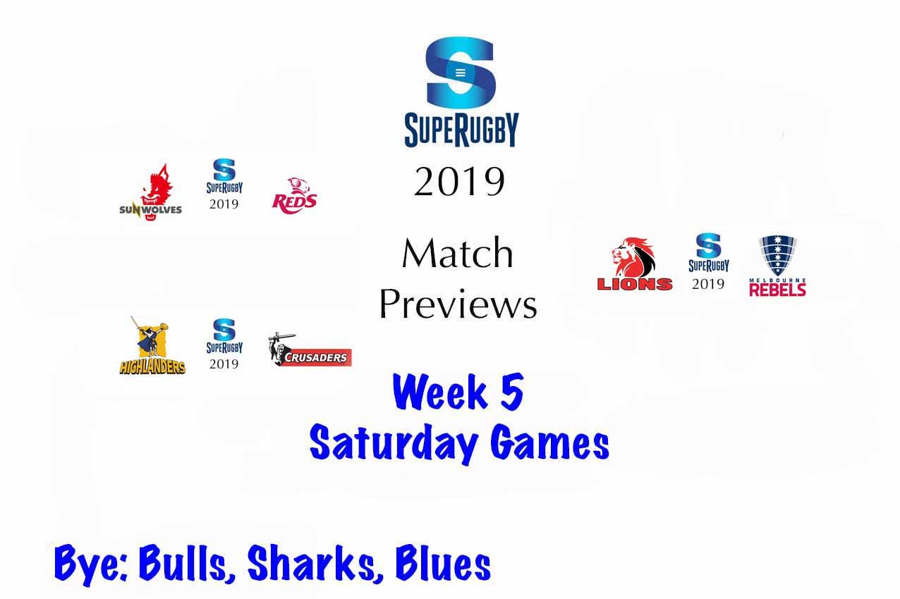 Super Rugby Previews - Week 5 - Saturday Games - Bill's Rugby Blog
